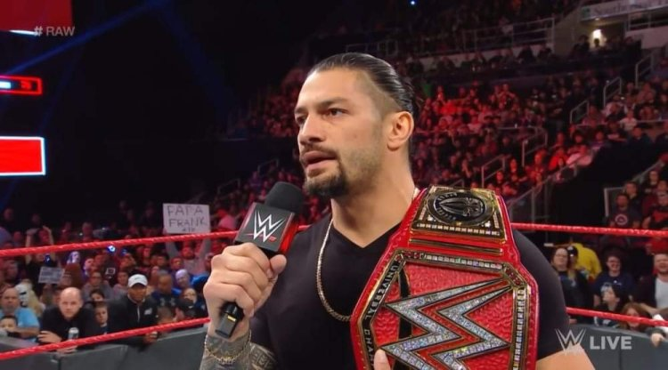 Roman Reigns breaking announcement on Monday Night Raw last night